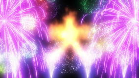 Japanese traditional fire.  of Kanji, and fireworks Royalty Free Stock Image