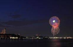 Japanese traditional fireworks Royalty Free Stock Photos