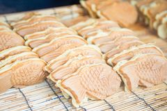 Japanese traditional fish shaped cake. Croissant taiyaki Stock Photography