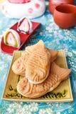 Japanese traditional fish-shaped cake, Taiyaki. Stock Images