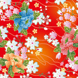 Japanese Traditional Floral Pattern Royalty Free Stock Photo