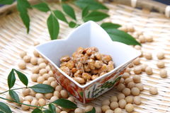 Japanese traditional food NATTO Stock Photo