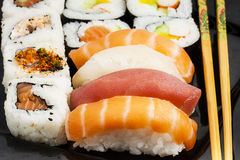 Japanese Traditional Food Sushi Closeup Stock Photo