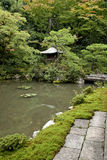 Japanese traditional garden kyoto japan Stock Image