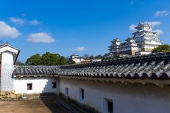 Japanese Traditional Himeiji Castle. Beautiful scenery landscape at outdoor Stock Image