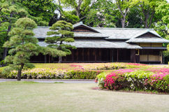 Japanese traditional house in a park of Tokyo Royalty Free Stock Image