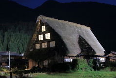 Japanese traditional house Shirakawa Royalty Free Stock Photos
