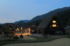 Japanese traditional house Shirakawa Stock Photos
