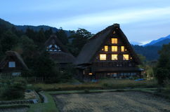 Japanese traditional house Shirakawa Royalty Free Stock Photo