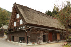 Japanese traditional house. Shirakawago, world heritage, Japanese traditional wooden hut house in autumn Stock Photography