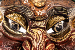 Japanese traditional mask eyes Stock Photo