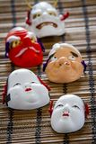 Japanese traditional masks Stock Photo