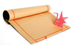 Japanese traditional origami and paper with copy s Stock Photo
