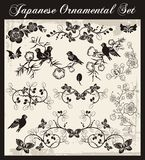 Japanese Traditional Ornaments Set. A set of traditional Japanese ornaments and oriental decorative designs Royalty Free Stock Photo