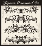 Japanese Traditional Ornaments Set. A set of traditional Japanese ornaments and oriental decorative designs Stock Image