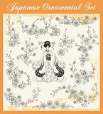 Japanese Traditional Ornaments Set Stock Images