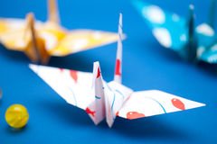 Japanese traditional paper crane Royalty Free Stock Image