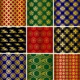 Japanese traditional pattern. S set. Illustration Stock Image