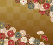 Japanese traditional pattern with chrysanthemum Stock Images