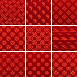 Japanese traditional red pattern Stock Photos