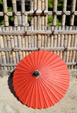 Japanese traditional red umbrella Royalty Free Stock Images