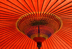 Japanese traditional red umbrella Stock Photography