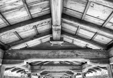 Japanese traditional room ceiling details Royalty Free Stock Image