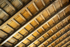 Japanese traditional room ceiling details Stock Images