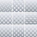 Japanese traditional silver pattern. Illustration Stock Image