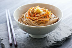 Japanese traditional soba noodle Royalty Free Stock Images