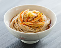 Japanese traditional soba noodle Royalty Free Stock Photography