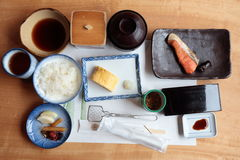Japanese traditional style breakfast Royalty Free Stock Photo