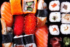 Japanese traditional sushi Royalty Free Stock Photos