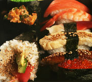 Japanese traditional sushi set Royalty Free Stock Image