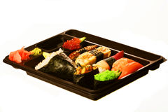 Japanese traditional sushi set Stock Photography