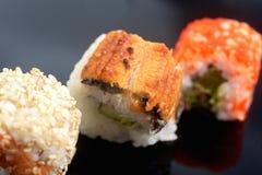 Japanese traditional sushi set Stock Image