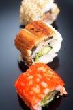 Japanese traditional sushi set Royalty Free Stock Images