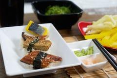 Japanese traditional sushi set Stock Photography