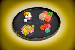 Japanese traditional sweets on the plate Royalty Free Stock Image