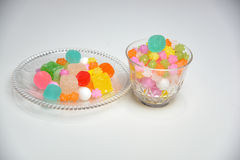 Japanese traditional sweets on the plate Stock Photos