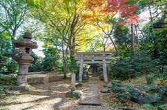 Japanese Traditional Temple in Garden Royalty Free Stock Photo
