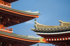 Japanese traditional temple roof Royalty Free Stock Photos