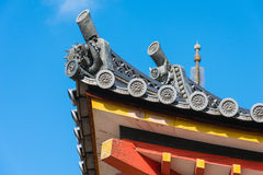 Japanese traditional temple's roof Royalty Free Stock Photography