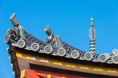 Japanese traditional temple's roof Royalty Free Stock Images