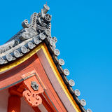 Japanese traditional temple's roof Stock Photos