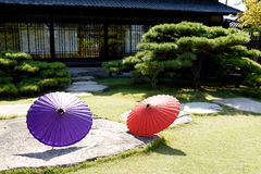 Japanese traditional umbrella Royalty Free Stock Images