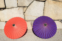 Japanese traditional umbrella Stock Photography