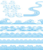 Japanese traditional wavess vector illustration