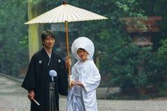 Japanese Traditional wedding Ceremony Royalty Free Stock Photography