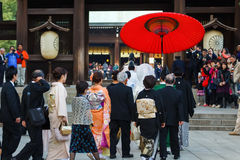 Japanese Traditional Wedding Ceremony Stock Photo
